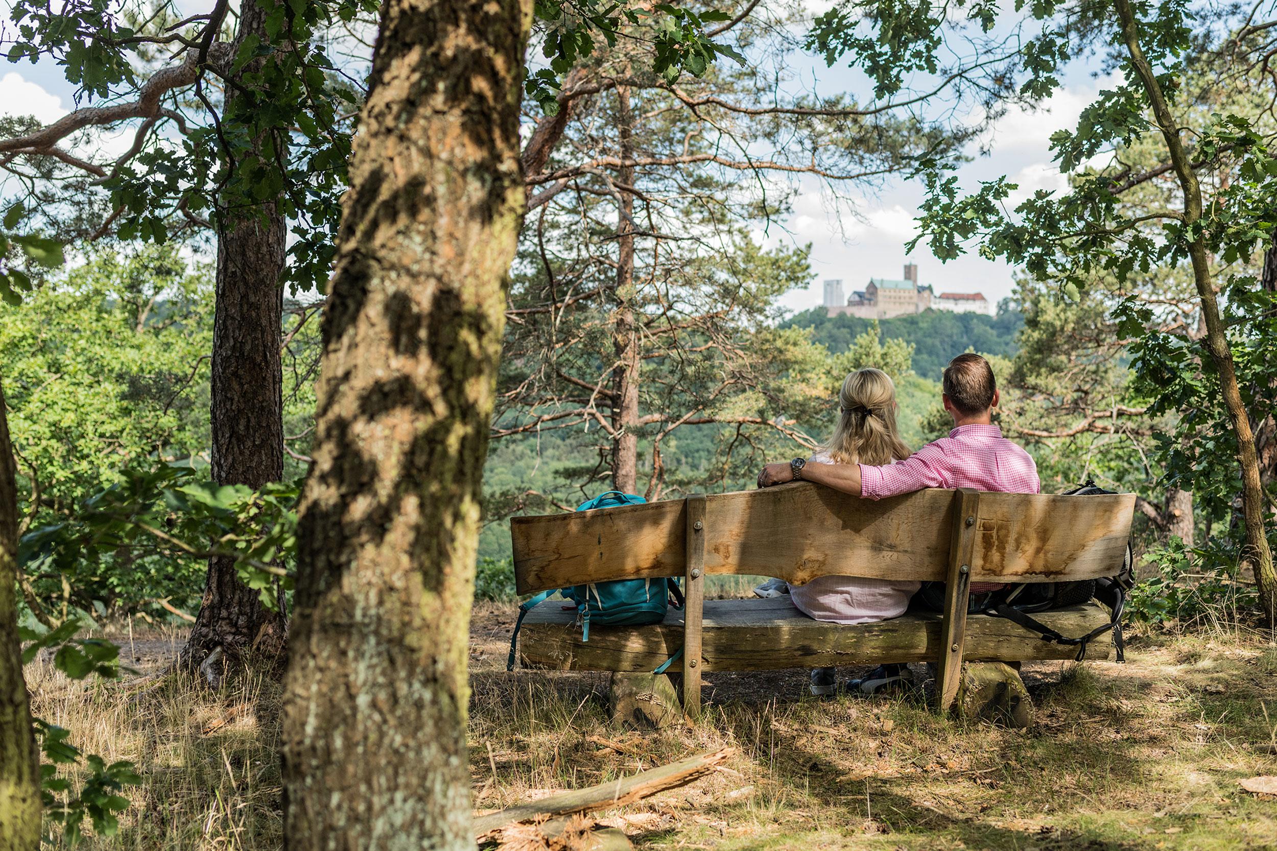 Eisenach Natur – Rast mit Wartburgblick