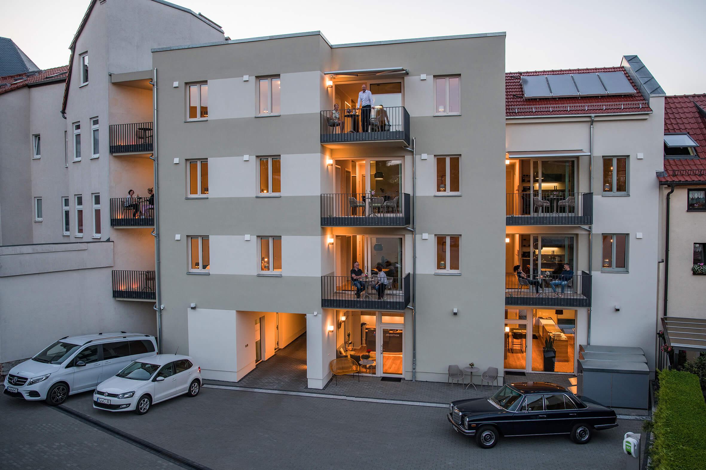 Pension Eisenach mit Balkon