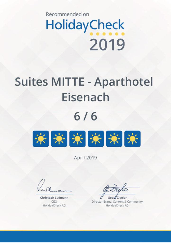 Hotel in Eisenach – Suites MITTE – empfohlen von HolidayCheck